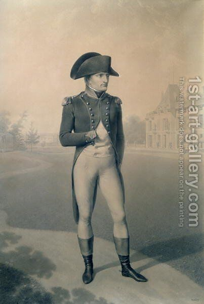 Napoleon Bonaparte 1769-1821 First Consul at Malmaison by Jean-Baptiste Isabey - Reproduction Oil Painting