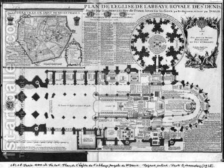 Plan of the Abbey Church of St Denis by Charles Inselin - Reproduction Oil Painting