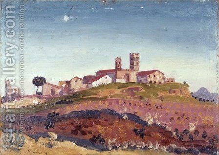 The Cathedral at Elne by James Dickson Innes - Reproduction Oil Painting