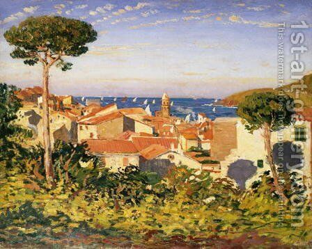 Collioure 2 by James Dickson Innes - Reproduction Oil Painting
