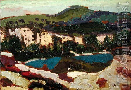 The Blue Pool Dorset by James Dickson Innes - Reproduction Oil Painting