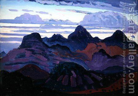 Deep Twilight by James Dickson Innes - Reproduction Oil Painting