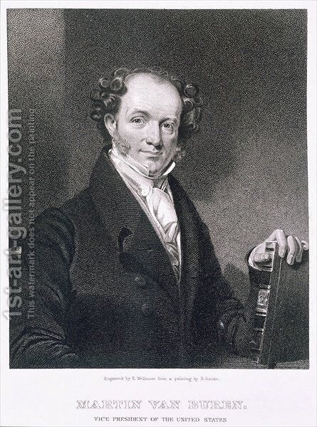 Martin Van Buren 2 by (after) Inman, Henry - Reproduction Oil Painting