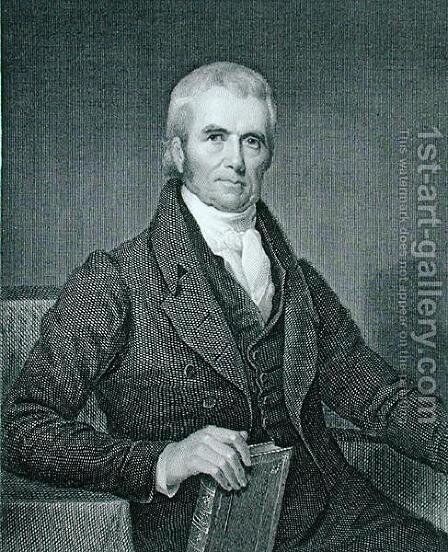 John Marshall 1755-1835 by (after) Inman, Henry - Reproduction Oil Painting