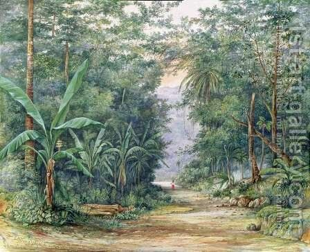 The Blue Mountains Jamaica by Admiral Sir Edward Augustus Inglefield - Reproduction Oil Painting