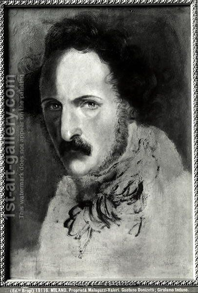 Portrait of Gaetano Donizetti by Girolamo Induno - Reproduction Oil Painting