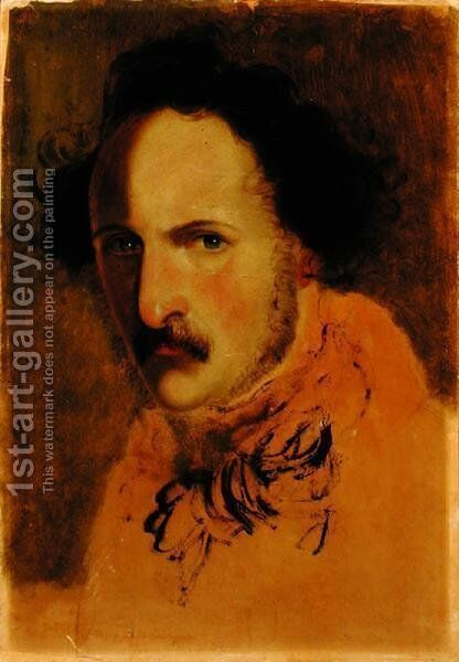 Portrait of Gaetano Donizetti 1797-1848 by Girolamo Induno - Reproduction Oil Painting