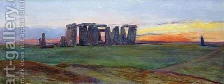 Stonehenge by John William Inchbold - Reproduction Oil Painting