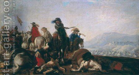 After the Battle by Il Borgognone - Reproduction Oil Painting
