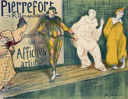 Reproduction of a poster advertising Pierrefort Artistic Posters Rue Bonaparte by Henri-Gabriel Ibels - Reproduction Oil Painting