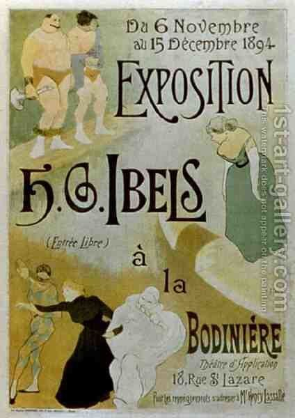 Exhibition by HB Ibels at the Bodiniere by Henri-Gabriel Ibels - Reproduction Oil Painting