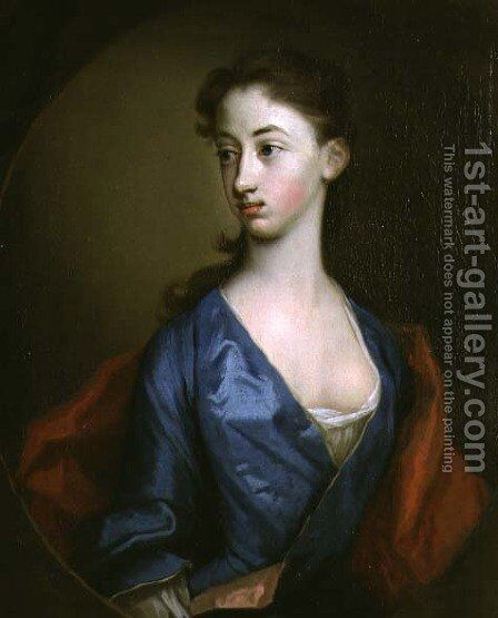 Portrait of Miss Reynolds Sister of Richard Reynolds 1674-1743 Bishop of Lincoln by Hans Hysing - Reproduction Oil Painting