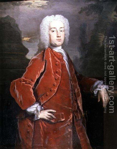 Portrait of Sir William Norwich by Hans Hysing - Reproduction Oil Painting