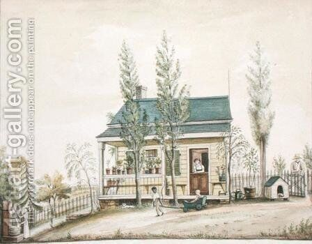The Cottage by Anne Marguerite Hyde de Neuville - Reproduction Oil Painting