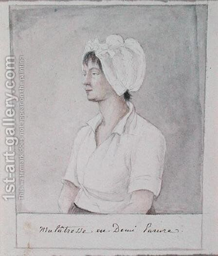 Mulatto Girl by Anne Marguerite Hyde de Neuville - Reproduction Oil Painting