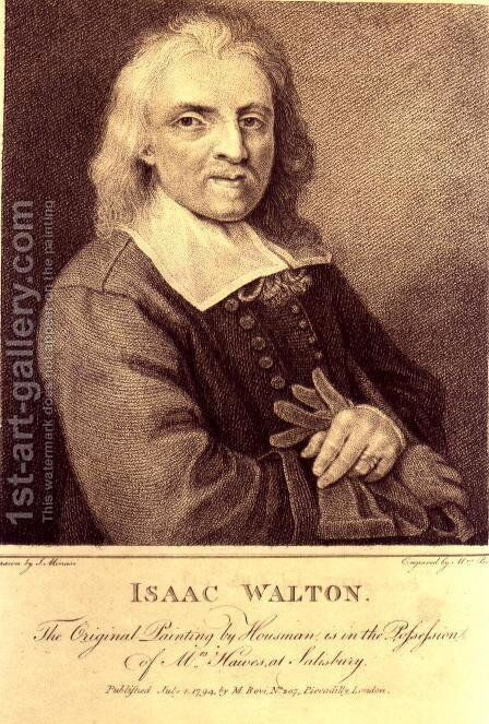 Portrait of Isaac Walton 1593-1683 by (after) Huysmans, Jacob - Reproduction Oil Painting