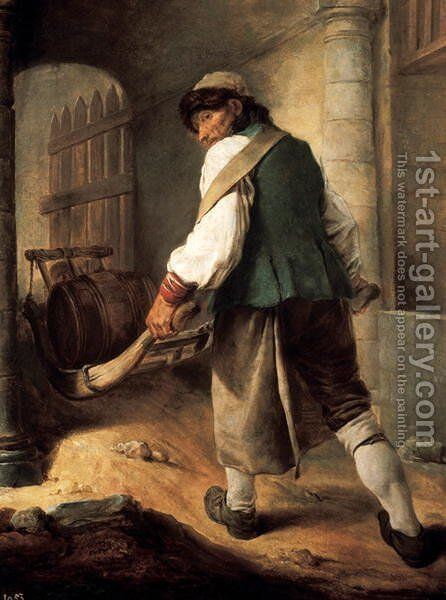 A Villager by Charles-Francois Hutin - Reproduction Oil Painting