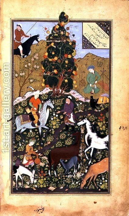 Dara and the Herdsman by Mir Ali Al Husayni - Reproduction Oil Painting
