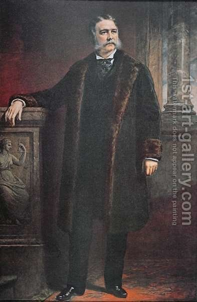 President Chester A Arthur by (after) Huntington, Daniel - Reproduction Oil Painting