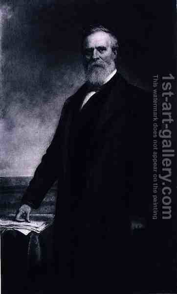 Rutherford B Hayes 19th President of the United States of America by (after) Huntington, Daniel - Reproduction Oil Painting