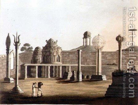 A Moorish Mosque at Bangalore by (after) Hunter, Lieutenant James - Reproduction Oil Painting