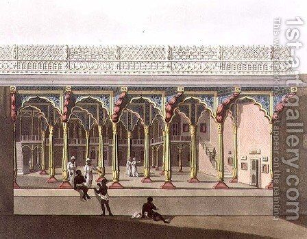 West Front of Tippoos Palace Bangalore by (after) Hunter, Lieutenant James - Reproduction Oil Painting
