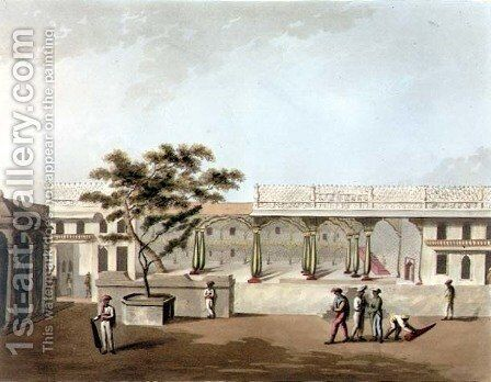 North Front of Tippoos Palace Bangalore by (after) Hunter, Lieutenant James - Reproduction Oil Painting