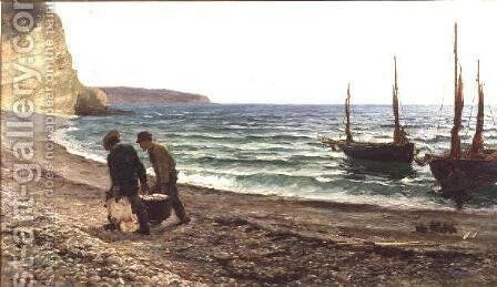 A Sea View by Colin Hunter - Reproduction Oil Painting