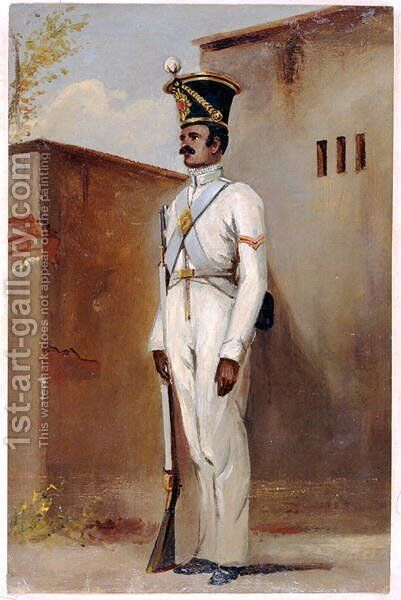 Lance Naik 66th Bengal Native Infantry by Alex Hunter - Reproduction Oil Painting
