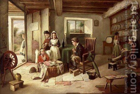 Horspital for Woonded Solgers Come Home from Egipt by Charles Hunt - Reproduction Oil Painting