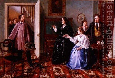 The Two Suitors by Charles Hunt - Reproduction Oil Painting