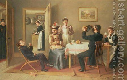 High Life Below Stairs by Charles Hunt - Reproduction Oil Painting