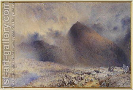 Mount Snowdon through Clearing Clouds by Alfred William Hunt - Reproduction Oil Painting