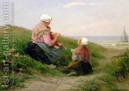 A Mother and her Small Children by Edith Hume - Reproduction Oil Painting