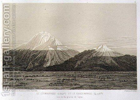 Mt Chimborazo and Mt Carguairazo by (after) Humboldt, Friedrich Alexander, Baron von - Reproduction Oil Painting