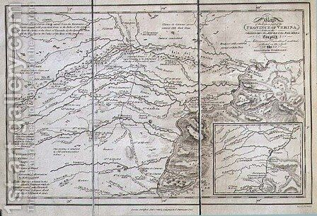 Map of the Eastern part of the Province of Verina between the Oronooko the Abura and the Rio Meta by (after) Humboldt, Friedrich Alexander, Baron von - Reproduction Oil Painting