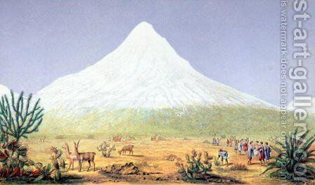 Chimborazo by (after) Humboldt, Friedrich Alexander, Baron von - Reproduction Oil Painting