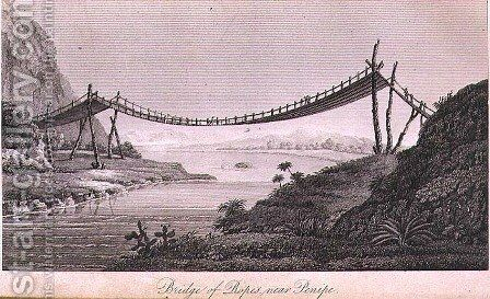 Bridge of Ropes near Penipe by (after) Humboldt, Friedrich Alexander, Baron von - Reproduction Oil Painting