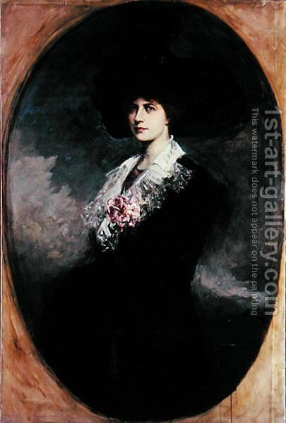 Portrait of a woman by Jacques Fernand Humbert - Reproduction Oil Painting