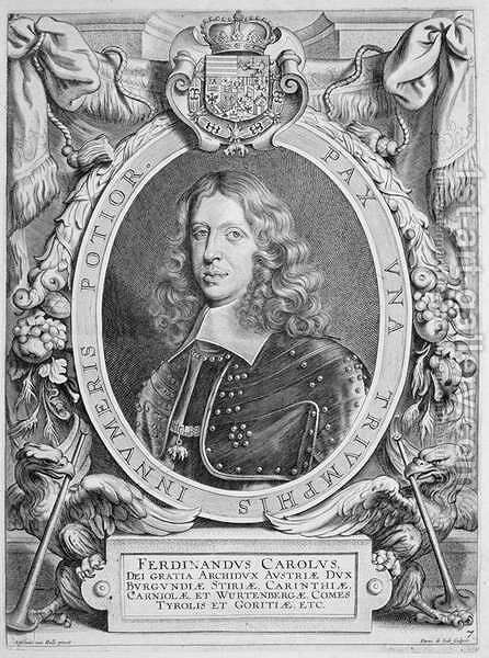 Ferdinand III 1608-57 Archduke of Austria Holy Roman Emperor 1637-57 by (after) Hulle, Anselmus van - Reproduction Oil Painting