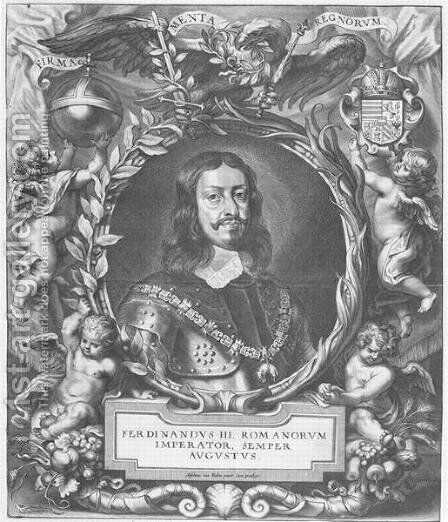 Portrait of Ferdinand III Holy Roman Emperor by (after) Hulle, Anselmus van - Reproduction Oil Painting