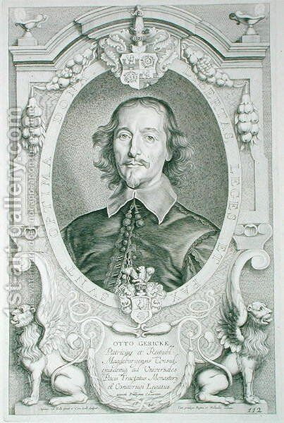 Otto von Guericke 1602-86 by (after) Hulle, Anselmus van - Reproduction Oil Painting