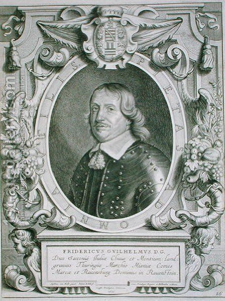 Frederick William Elector of Saxony by (after) Hulle, Anselmus van - Reproduction Oil Painting