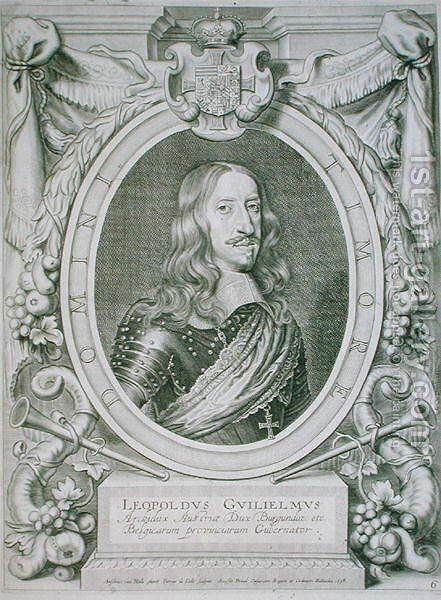Leopold I 1640-1708 by (after) Hulle, Anselmus van - Reproduction Oil Painting