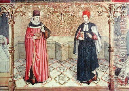St Cosmas and St Damian by Jaume Huguet - Reproduction Oil Painting