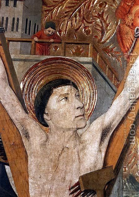 The Martyrdom of St Vincent by Jaume Huguet - Reproduction Oil Painting
