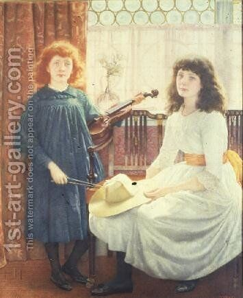 Bell and Dorothy Freeman by Edward Robert Hughes - Reproduction Oil Painting