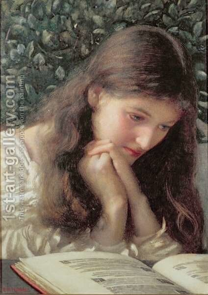 Idle Tears by Edward Robert Hughes - Reproduction Oil Painting