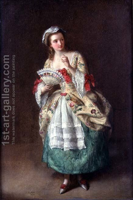 Dressed for the Ball by Edward Hughes - Reproduction Oil Painting