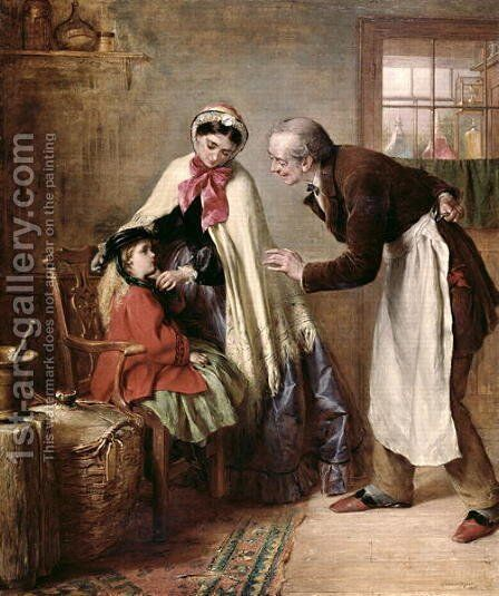 First Tooth by Edward Hughes - Reproduction Oil Painting